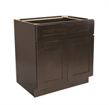 "Brookings 24"" Fully Assembled Kitchen Base Cabinet, Espresso Shaker #613646"