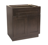 "Brookings 30"" Fully Assembled Kitchen Base Cabinet, Espresso Shaker #613661"