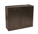 "Brookings 33"" Fully Assembled Kitchen Wall Cabinet, Espresso Shaker #613885"
