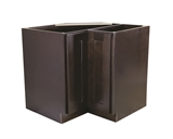 "Brookings 36"" Fully Assembled Kitchen Lazy Susan Cabinet, Espresso Shaker #620302"