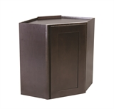 "Brookings 24"" Fully Assembled Kitchen Corner Wall Cabinet, Espresso Shaker #620393"