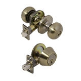 6-Way Universal Canton Entry Combo Knob, Antique Brass #727297