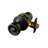 Plaza 6-Way Universal Bed and Bath Knob, Oil Rubbed Bronze #728253