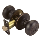 Cambridge 2-Way Latch Entry Door Knob, Oil Rubbed Bronze #753467