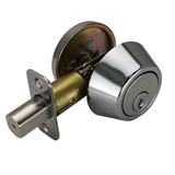 Single Cylinder Polished Chrome Deadbolt #779058