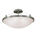 Eastport Semi-Flush Ceiling Light in Satin Nickel #828368