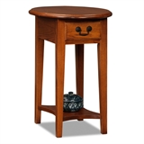 Oval Side Table-Medium finish #9042-MED