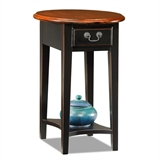 Oval Side Table-Slate finish #9042-SL